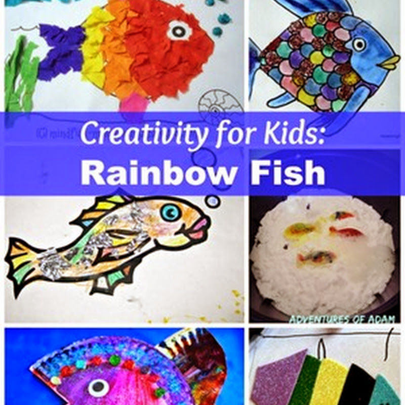Preschool Art Activities: Rainbow Fish