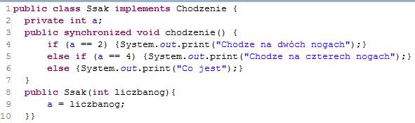 Przykład kodu