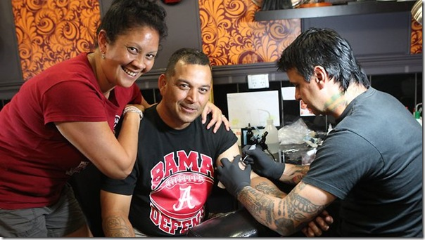 Jesse Williams parents get Bama tattoo