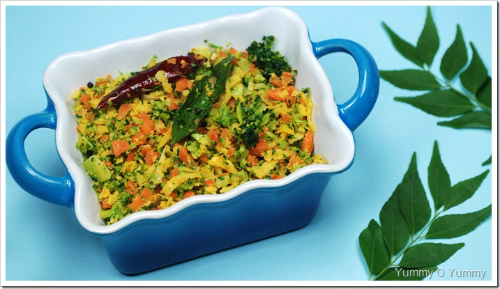 Broccoli-Carrot Thoran