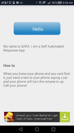 SARA- Self Automated Response