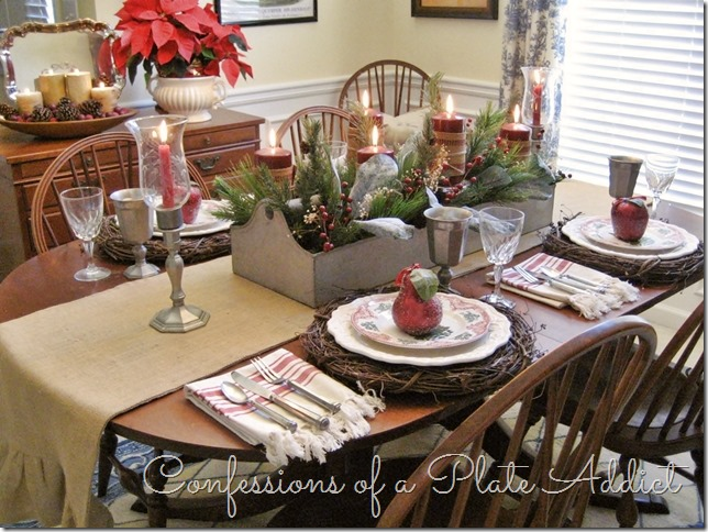 CONFESSIONS OF A PLATE ADDICT Farmhouse Christmas Tablescape