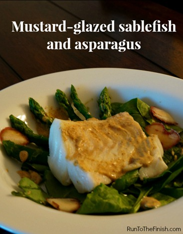 mustard-glazed sablefish recipe