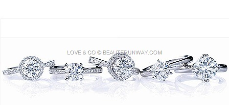 LOVE & CO DIAMOND RINGS WEDDING ENGAGEMENT LVC LOVEMARK PROMISE PERFECTION PRECIEUX HEART SHAPED SOILTARE Perfection Eterno Desirio Purete Alegria BANDS_thumb[1]