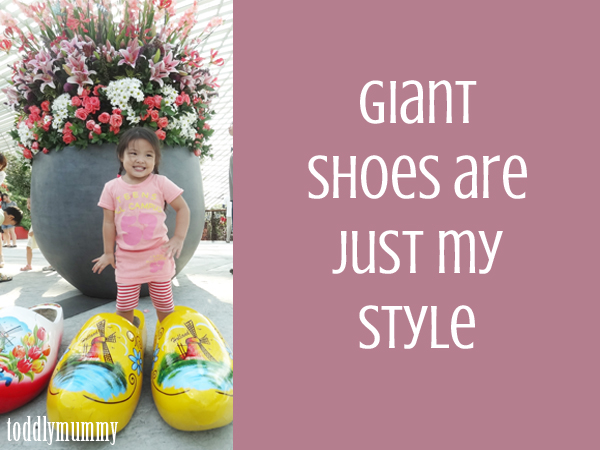 Giant shoes are my style