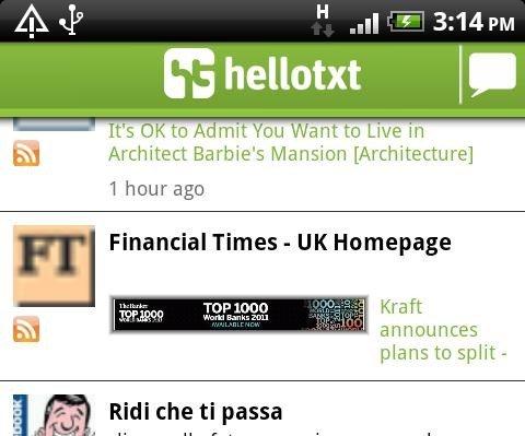 hellotxt para Android