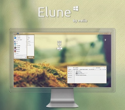 Elune: moderno tema visual para Windows 8