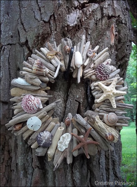 Creative Passage Beachy Driftwood And Seashell Wreath