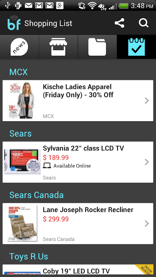 Black Friday 2014 Ads App - screenshot