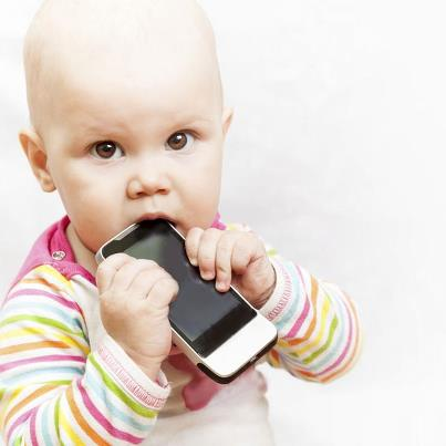 baby eating a phone, the future of our generation, school of hackers