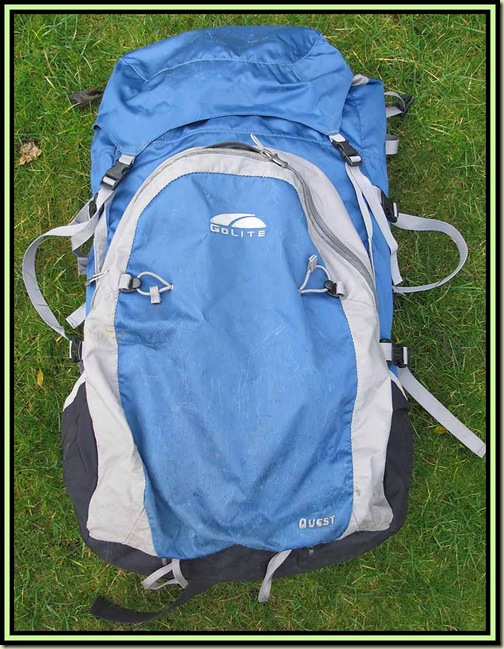 Golite Quest rucksack after the equivalent of 4 months' continuous use