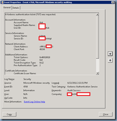 Terence Luk Events Logged On An Active Directory Domain Controller When A User Supplies A Bad Password