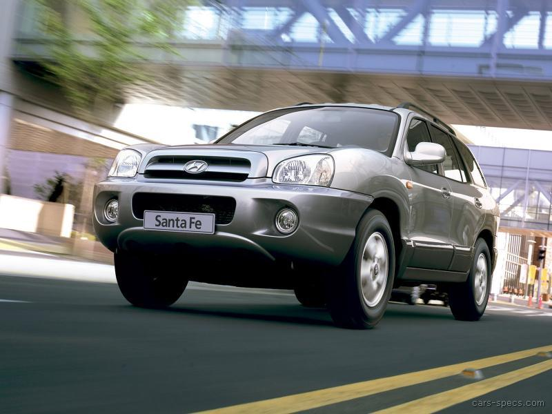 2004 hyundai santa fe suv specifications pictures prices. Black Bedroom Furniture Sets. Home Design Ideas