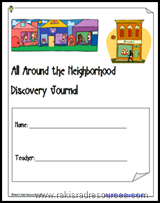 All Around the Neighborhood Discovery Journal - free download from Raki's Rad Resources.