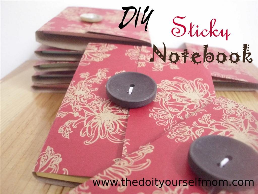 The do it yourself mom diy post it or sticky notebook holder i wanted to make a little gift to give a few friends here so i made these quick sticky notebook holders i think they turned out quite cute and everyone i solutioingenieria Choice Image