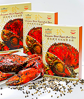 JUMBO SEAFOOD SINGAPORE BLACK PEPPER CRAB SPICE PASTE RETAIL PACK