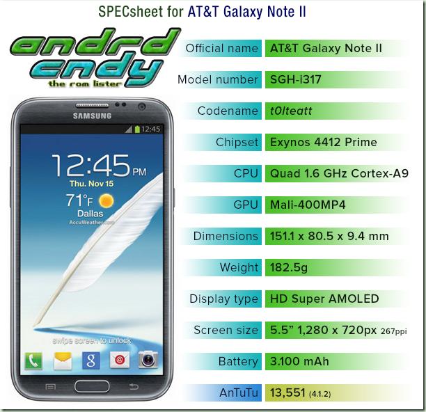 andrdcndy: AT&T Galaxy Note II (i317) ROM List