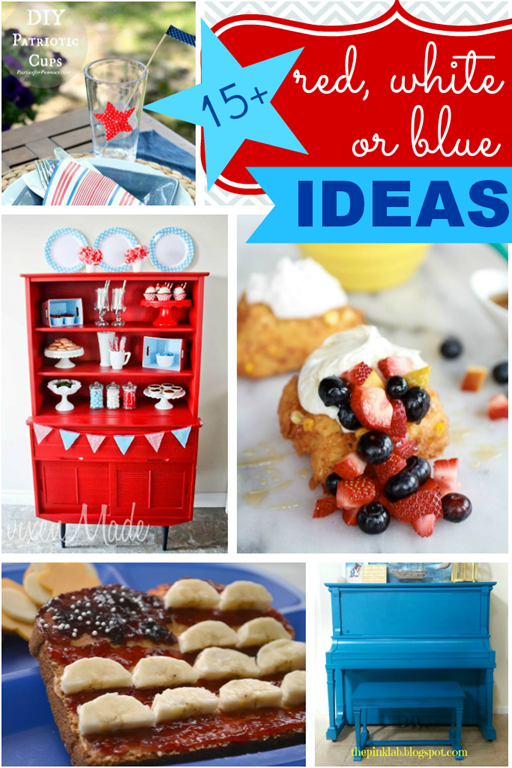 15 red, white or blue ideas {features at GingerSnapCrafts.com}