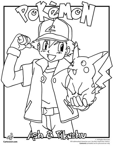 ash-e-pikachu-pokemon-colorir