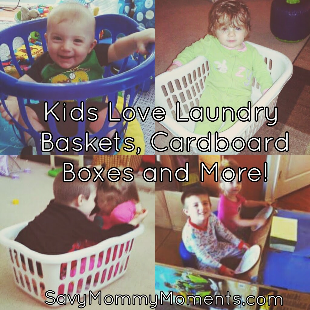 Kids Love Laundry Baskets Cardboard Boxes And More Momlife The Happy Loved Life