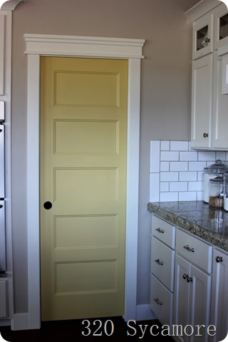 yellow pantry door SW 6394 sequin