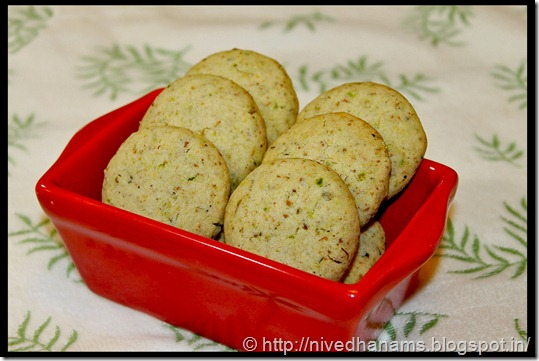 Pistachio and Cardamom Cookies - IMG_3645
