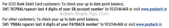 How to check Payback points balance