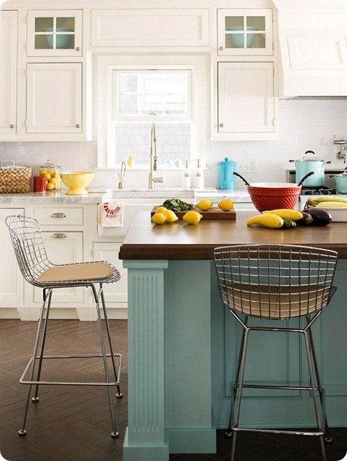 blue island white cabinets