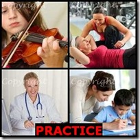 PRACTICE- 4 Pics 1 Word Answers 3 Letters