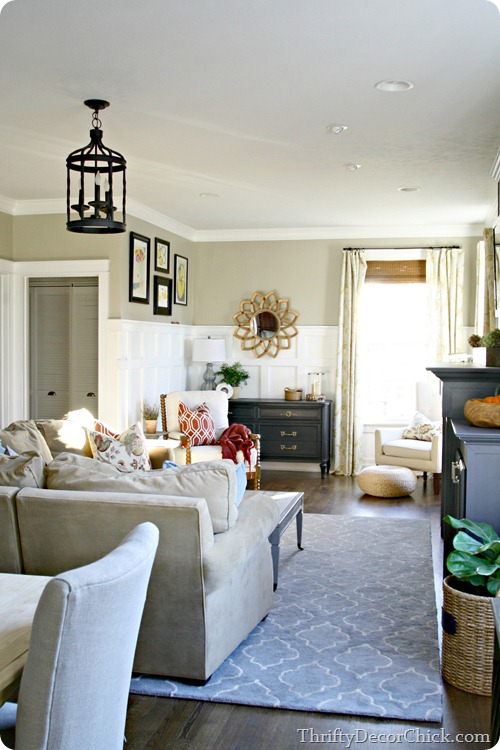 family room renovation @thriftydecorchick