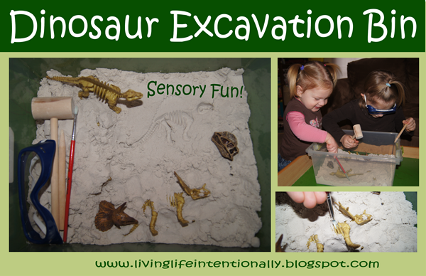 Dinosaur Excavation Sensory Bin