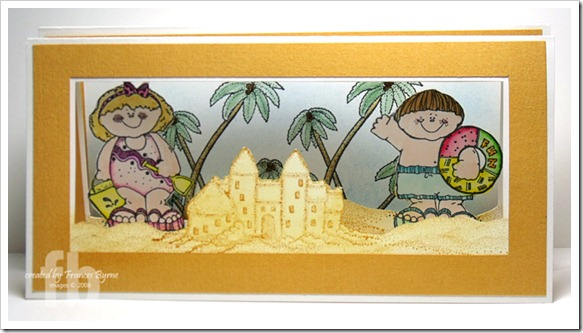 Beach Accordion Fold Card wm