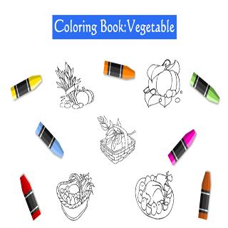 สมุดระบายสี ชุดพืชผักสวนครัว