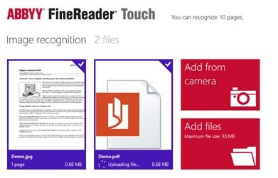 FineReader Touch OCR for Windows 8