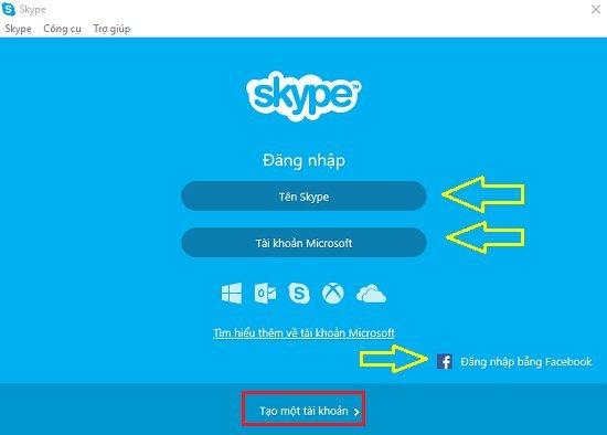 Cài đặt và đăng nhập Skype