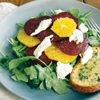 Beet, Orange & Burrata Salad with Herb Toasts