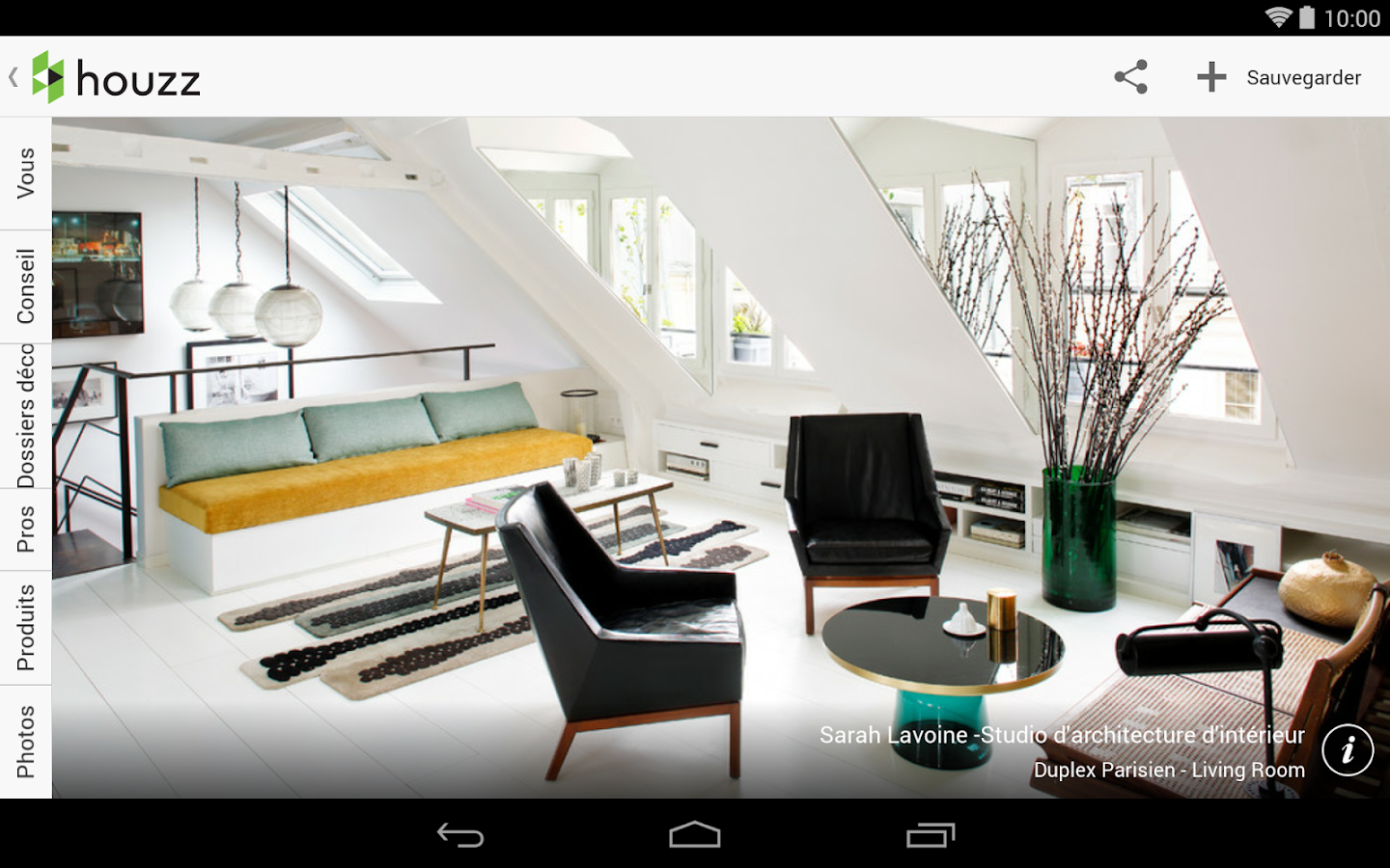 Houzz id es de d coration applications android sur Application decoration