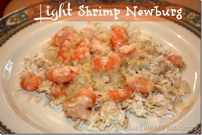 Light Shrimp Newburg - Enjoy Shrimp Newburg without the fat and calories of the traditional recipe. virginiasweetpea.com