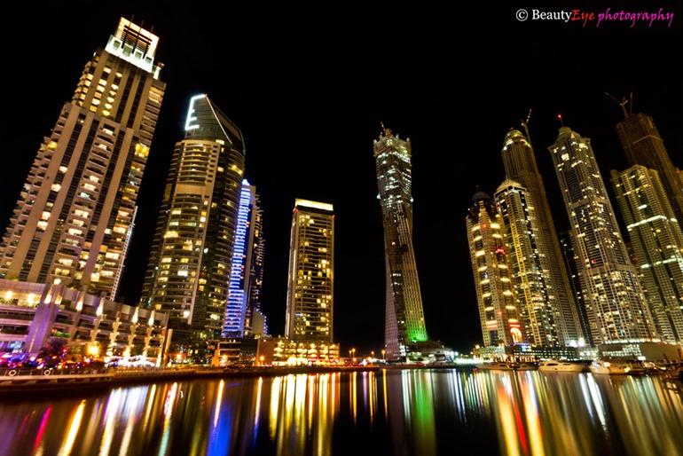 Dubai skyline from flickr user Beauty Eye