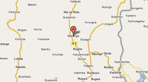 Carte de Mabenga à Rutshuru