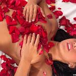Andrea Rincon, Selena Spice Galeria 48 : Solo Para Ti, Corazon Petalos De Rosa En La Cama – AndreaRincon.com Foto 24
