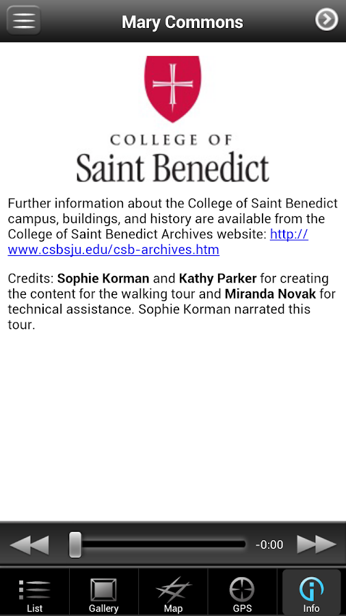 CSB Walking Tours - screenshot