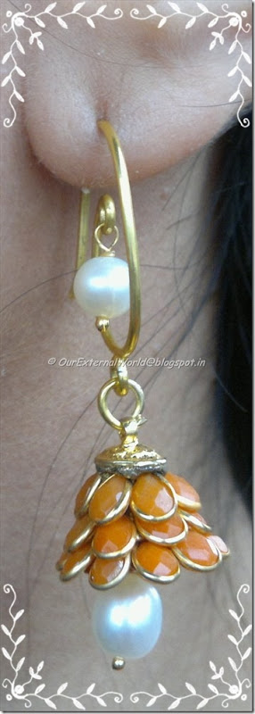 gold-pearl-drop-orange-stone-earrings-