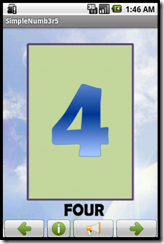 Simple Number Flashcard Android Apps