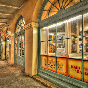 Aunt Sally's Pralines  by Ivan Anchev - City,  Street & Park  Historic Districts ( new orleans, historic landmark, cafe du mond, louisiana, french quarter )