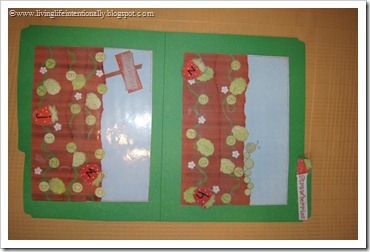 Berry Patch Alphabet File Folder Game