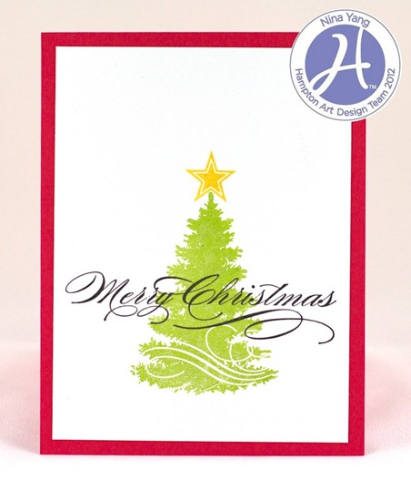 Christmas Tree Silhouette Card