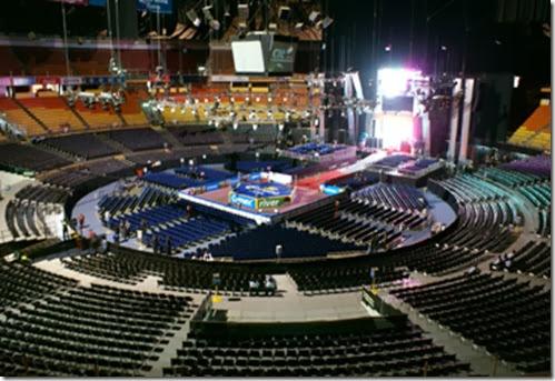 vista por dentro del recinto palacio del deporte en mexico DF 2014 2015