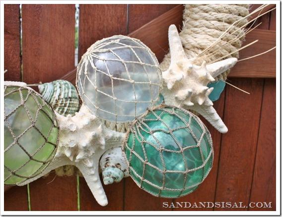 glass float wreath