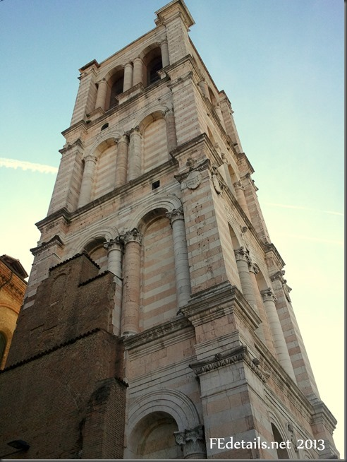 Campanile della Cattedrale di San Giorgio - Bell tower of the Cathedral of St. George, Ferrara, Italy, photo2